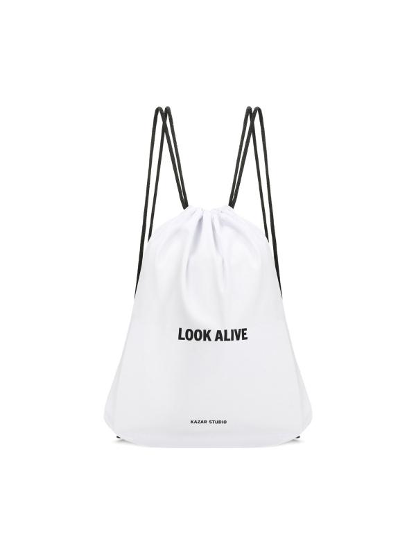 Biały plecak worek