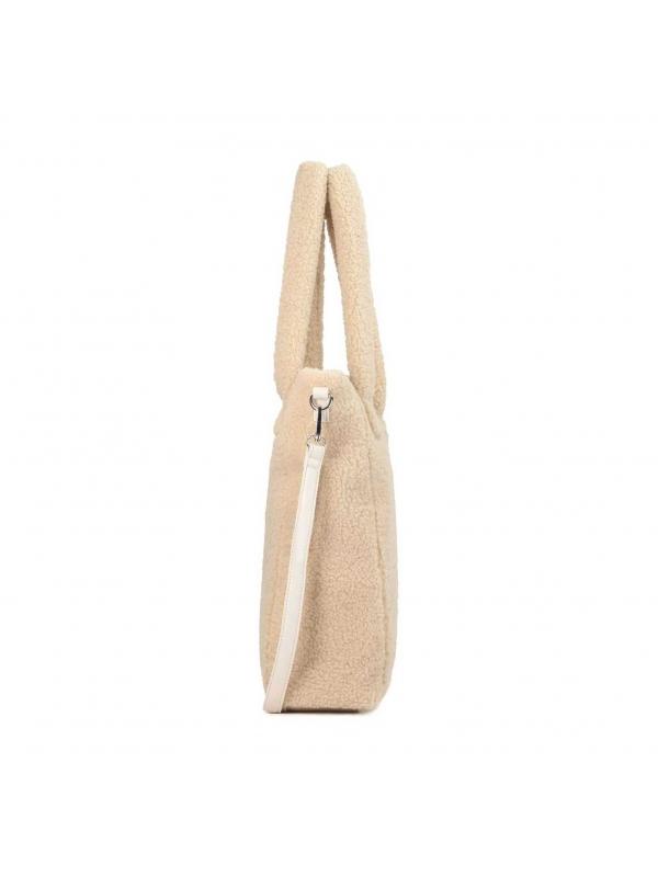 Beżowa torebka damska BAMBI