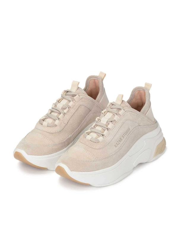 Beżowe sneakersy damskie MACIE