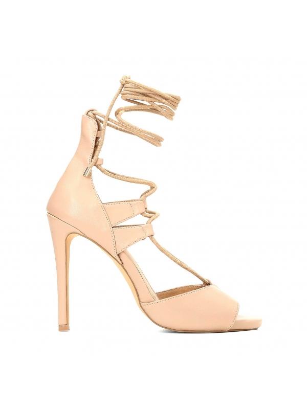 Beżowe sandały damskie MIA-HAV KS082