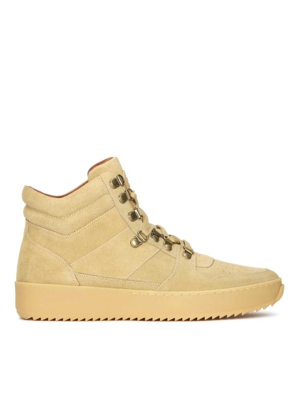 Beżowe skórzane sneakersy męskie BRAD