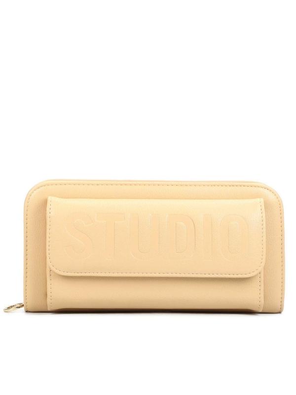 Beżowy portfel damski