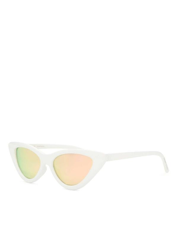 Białe okulary przeciwsłoneczne