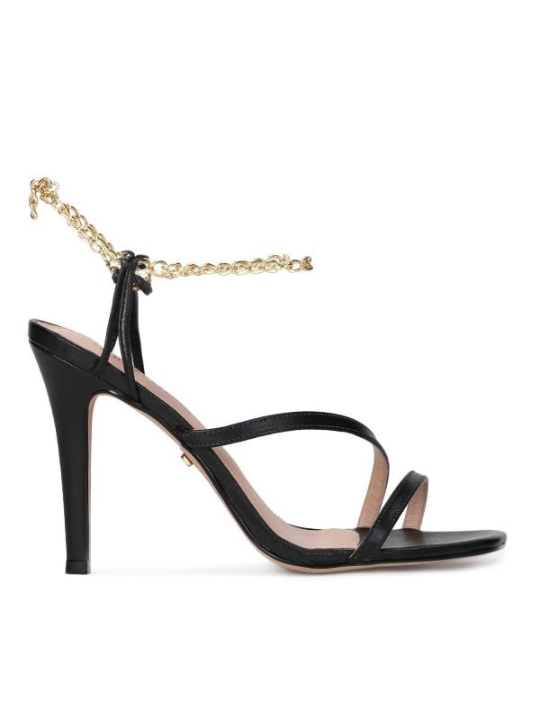 Czarne sandały damskie CARLI