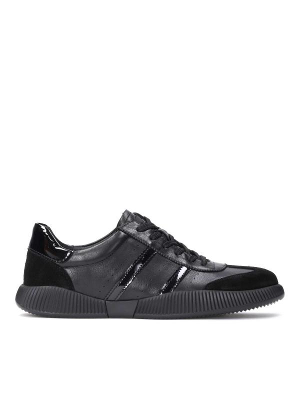 Czarne skórzane sneakersy męskie RODDY