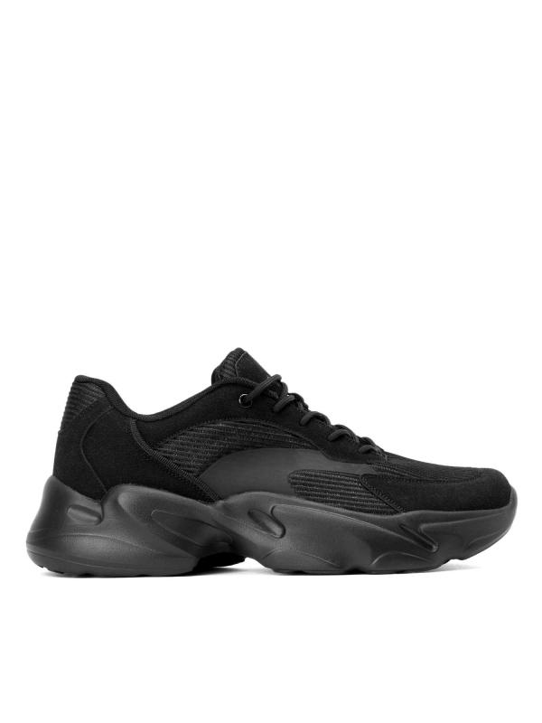Czarne sneakersy męskie JFK-OKC KS611