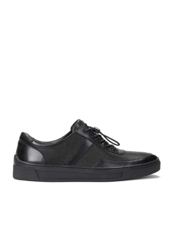 Czarne sneakersy męskie MILO