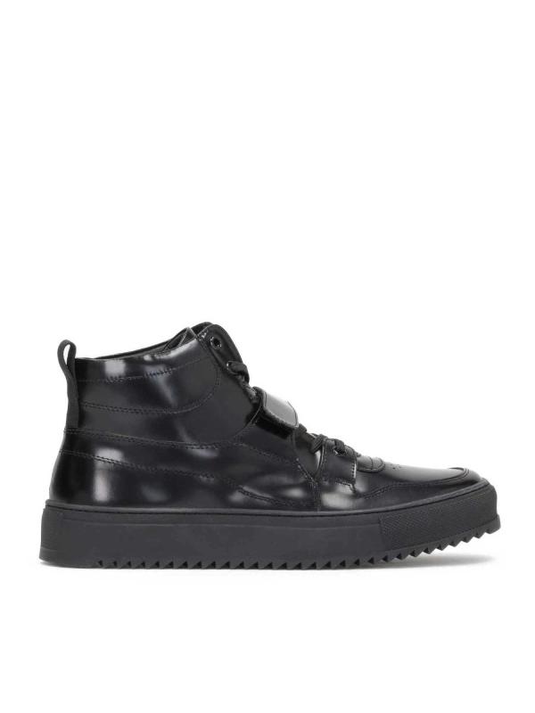 Czarne sneakersy męskie LEYTON