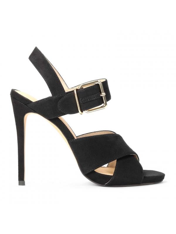 Czarne sandały damskie MIA-ODS KS048