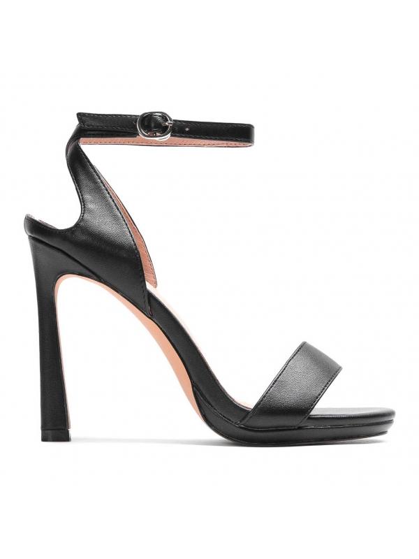 Czarne sandały damskie MIA-PRM KS827