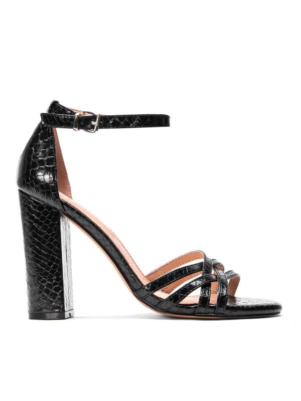 Czarne sandały damskie MIA-CVU KS563