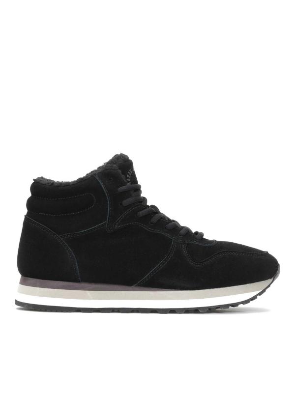 Czarne skórzane sneakersy męskie CHRIS