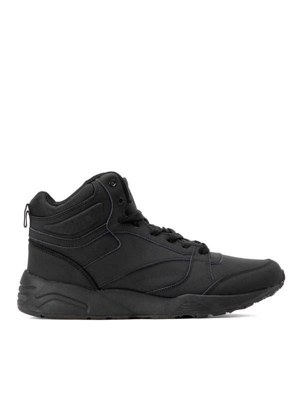 Czarne skórzane sneakersy męskie  FRA-ADH KS640