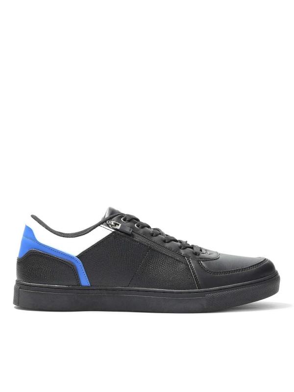 Czarne sneakersy męskie SFO-LIN KS670