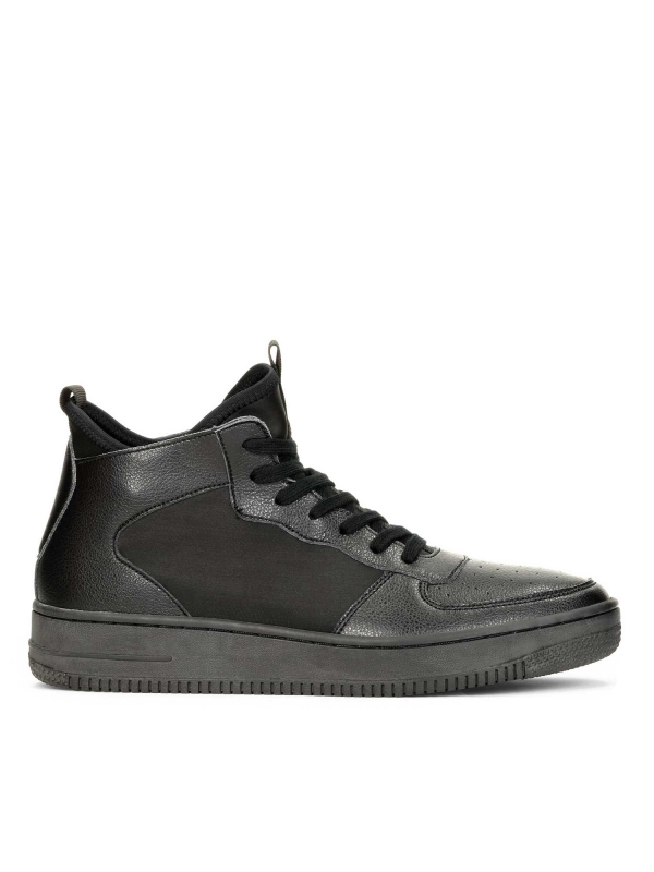 Czarne sneakersy męskie  SEA-KUL KS787