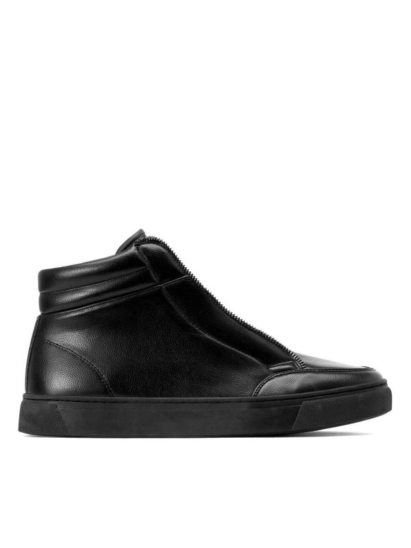 Czarne sneakersy męskie  SEA-VAW KS711