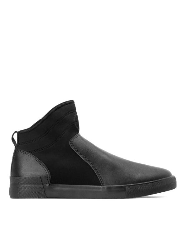 Czarne sneakersy męskie   SEA-VRC KS512