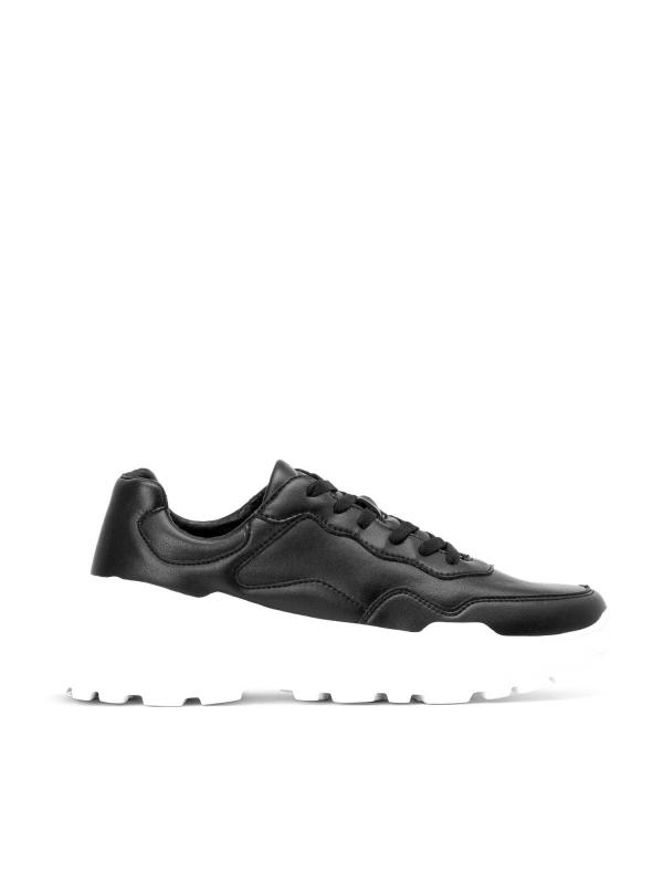 Czarno-białe sneakersy męskie  JFK-YYC KS789
