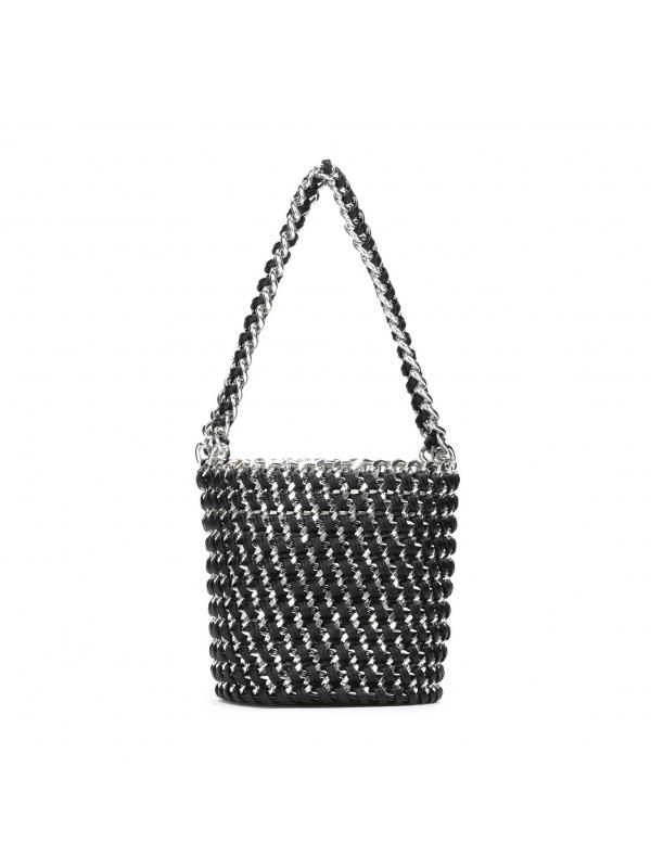 Czarno-srebrna torebka damska  SAFONA