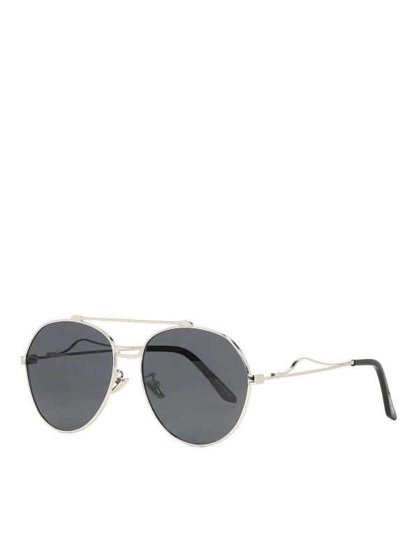 Czarno-srebrne okulary przeciwsłoneczne