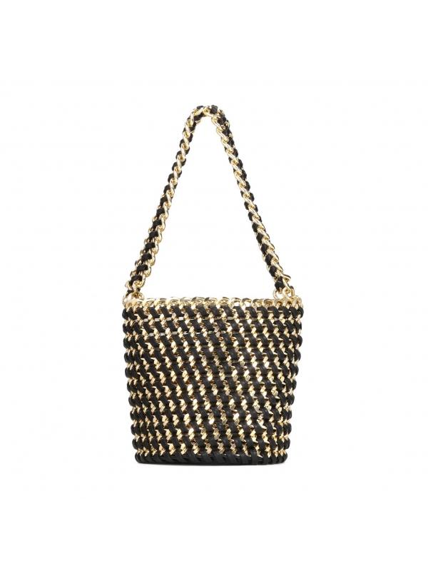 Czarno-złota torebka damska  SAFONA