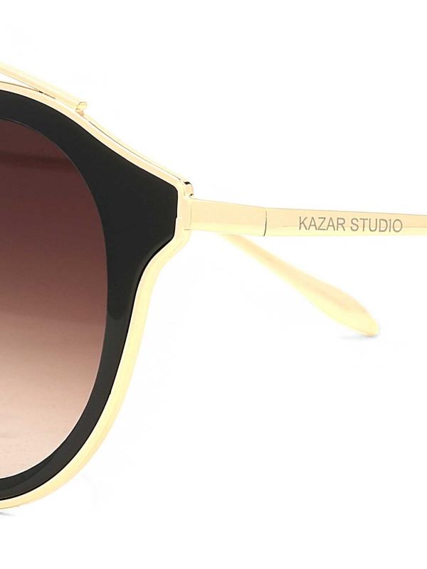 Czarno-złote okulary przeciwsłoneczne