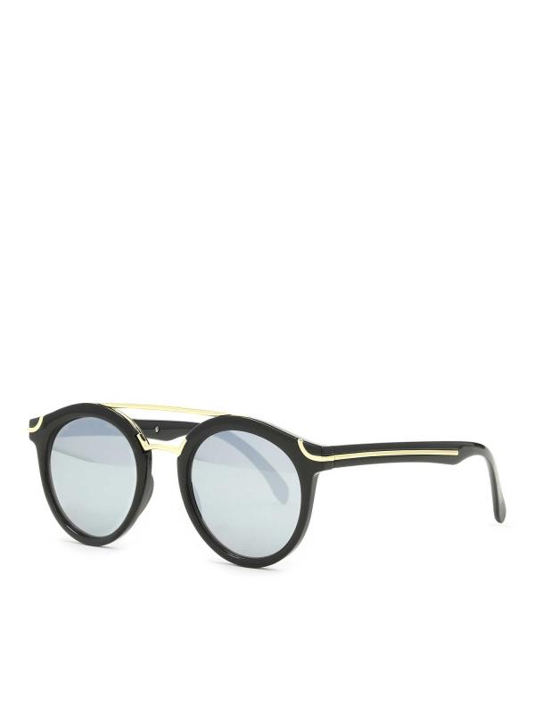 Czarno -złote okulary przeciwsłoneczne