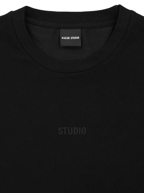 Czarny t-shirt damski