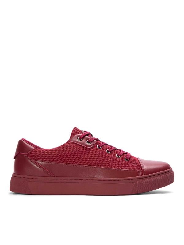 Czerwone sneakersy męskie  SFO-MUN KS555