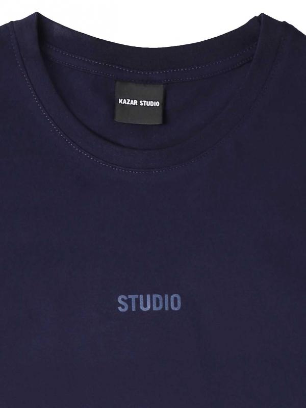 Granatowy t-shirt męski