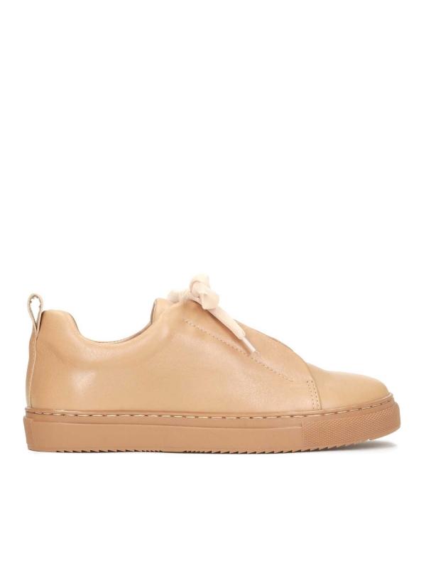Jasnobrązowe sneakersy damskie CORAL
