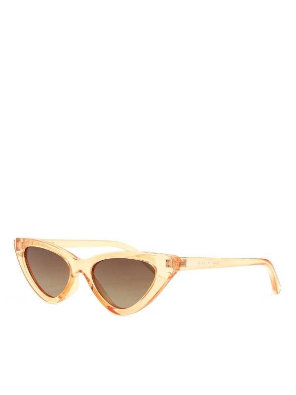 Jasnobrązowe okulary przeciwsłoneczne