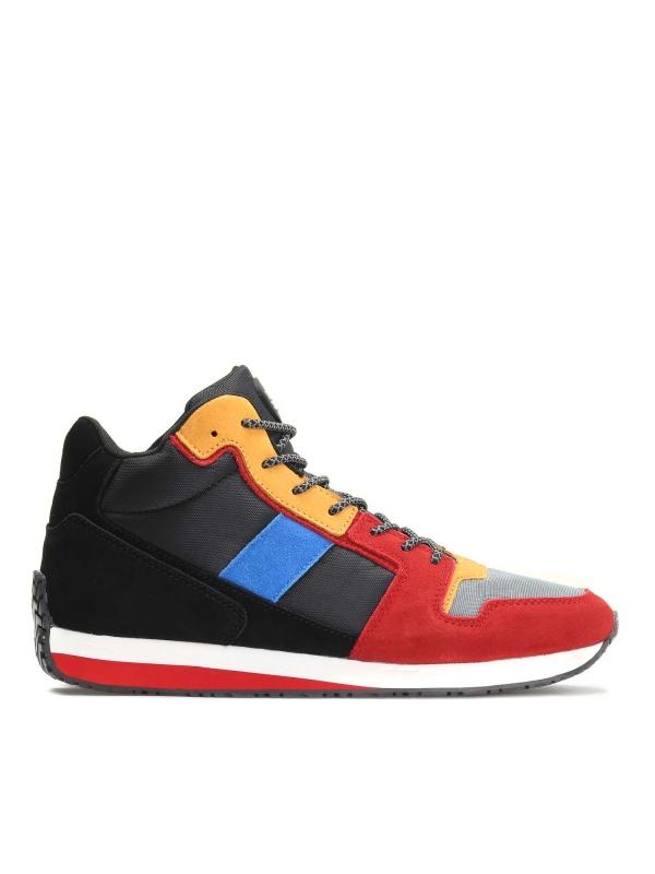Multikolorowe skórzane sneakersy męskie ALEC