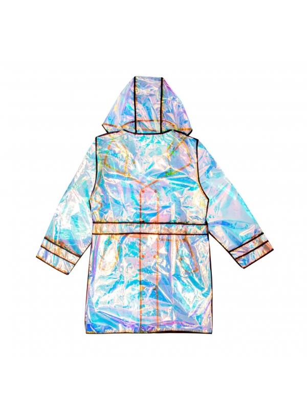 Multikolorowy płaszcz przeciwdeszczowy