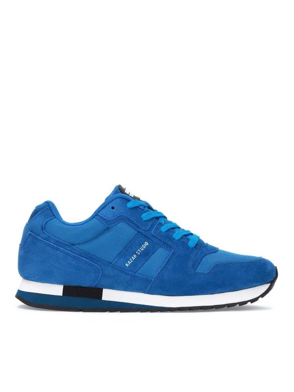 Niebieskie skórzane sneakersy męskie ALEC