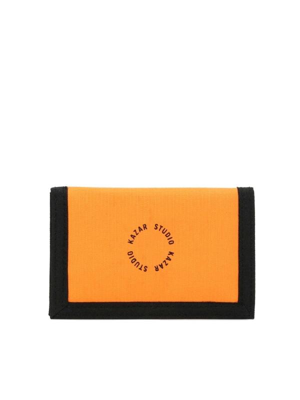 Pomarańczowy portfel męski