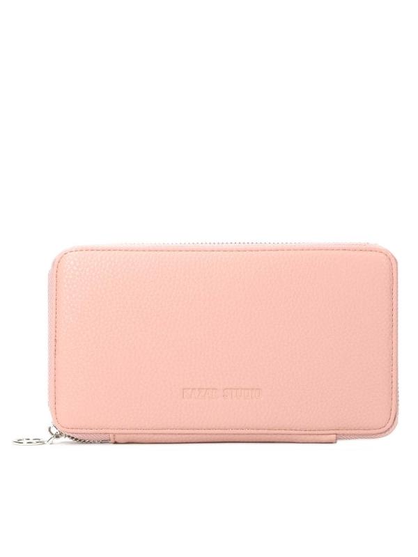Różowy portfel damski