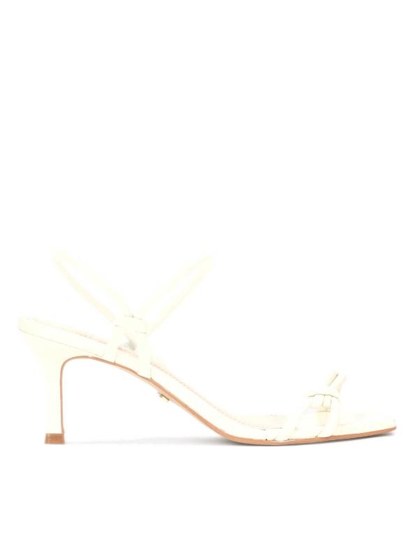 Sandały damskie w kolorze złamanej bieli CHAYA