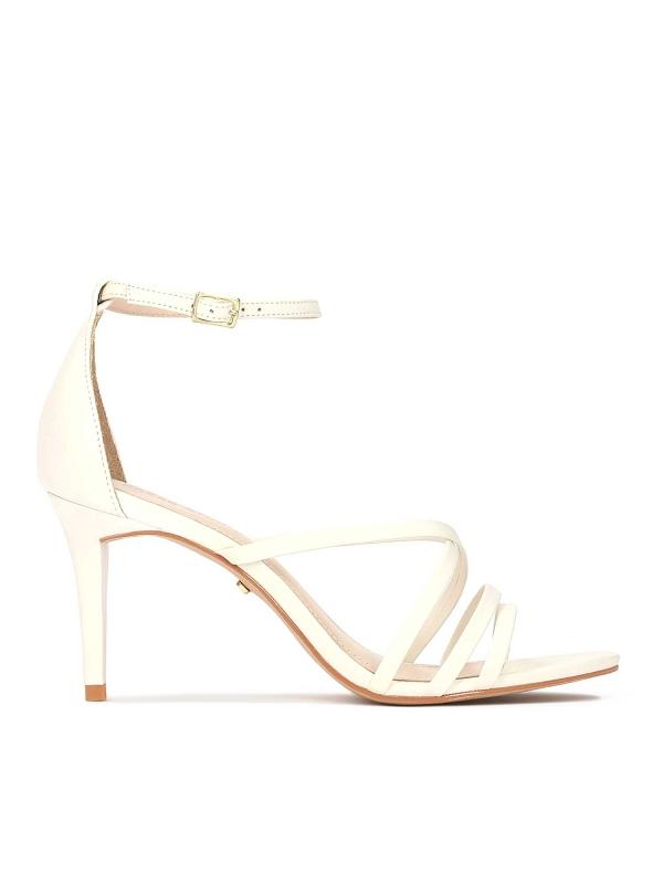 Sandały damskie w kolorze złamanej bieli KITTY