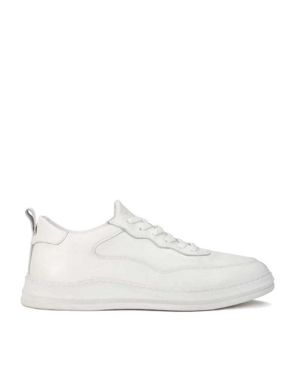 Sneakersy męskie w kolorze złamanej bieli ANAT