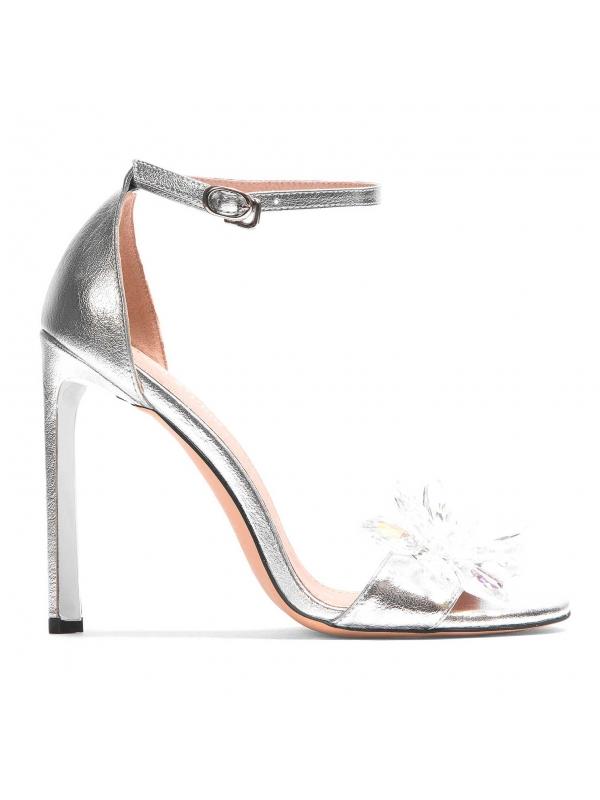 Srebrne sandały damskie  MIA-PPL KS830