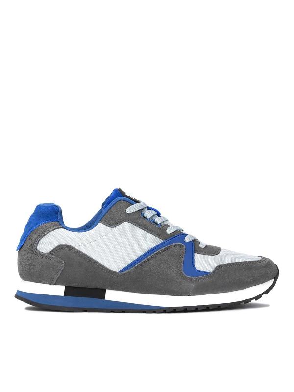 Szare skórzane sneakersy męskie ALEC