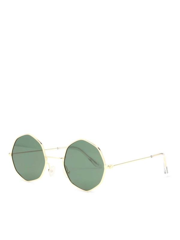 Złote okulary przeciwsłoneczne