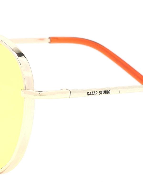 Złoto-brązowe okulary przeciwsłoneczne