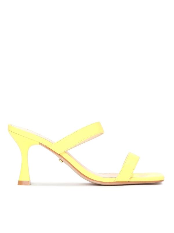 Żółte klapki damskie MALVA