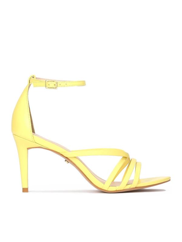 Żółte sandały damskie KITTY