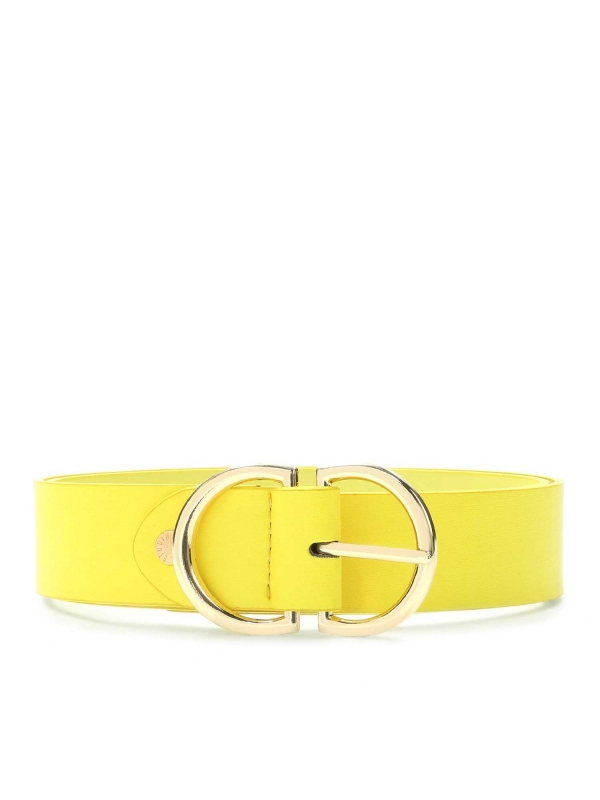 Żółty pasek damski