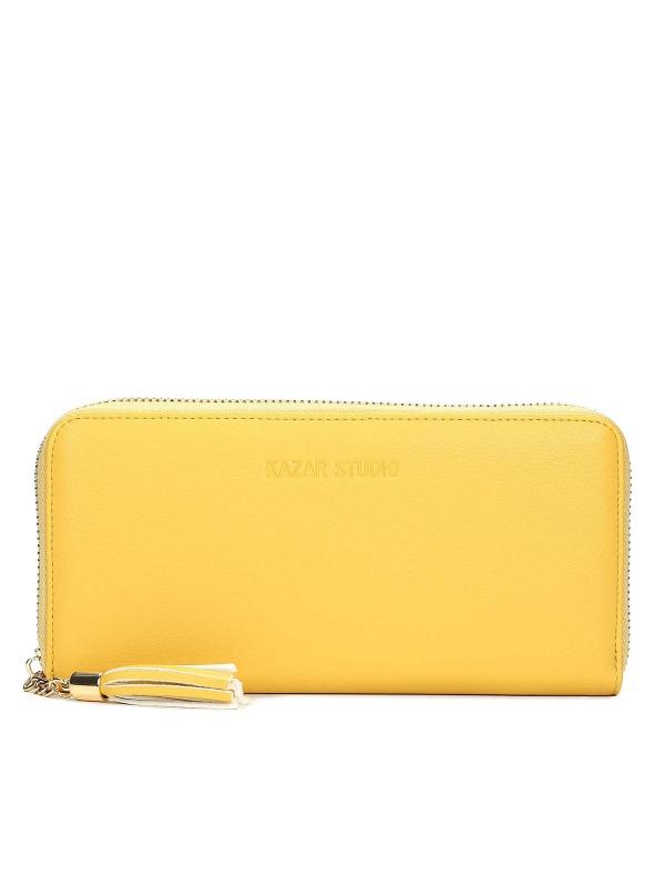 Żółty portfel damski